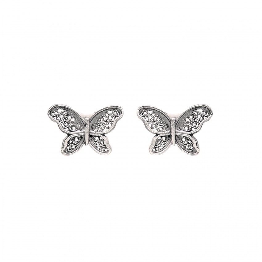 Earrings Butterfly in Silver