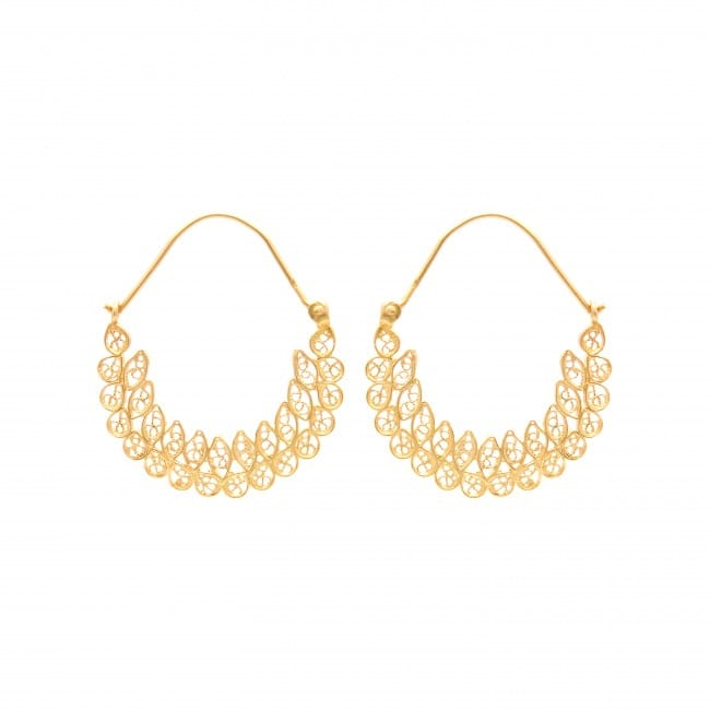 Earrings Hoop Ciclo in Gold Plated Silver