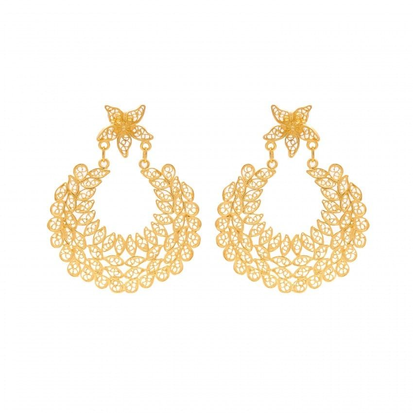 Earrings Ciclo in Gold Plated Silver