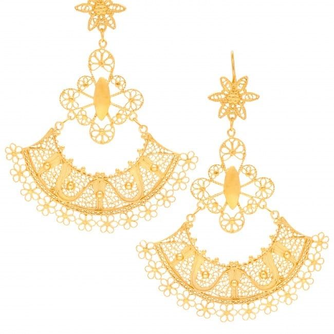 Earrings Skirt in Gold Plated Silver