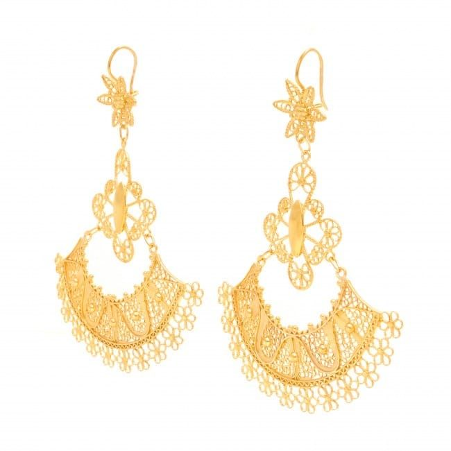 Earrings Skirt in Gold Plated Silver