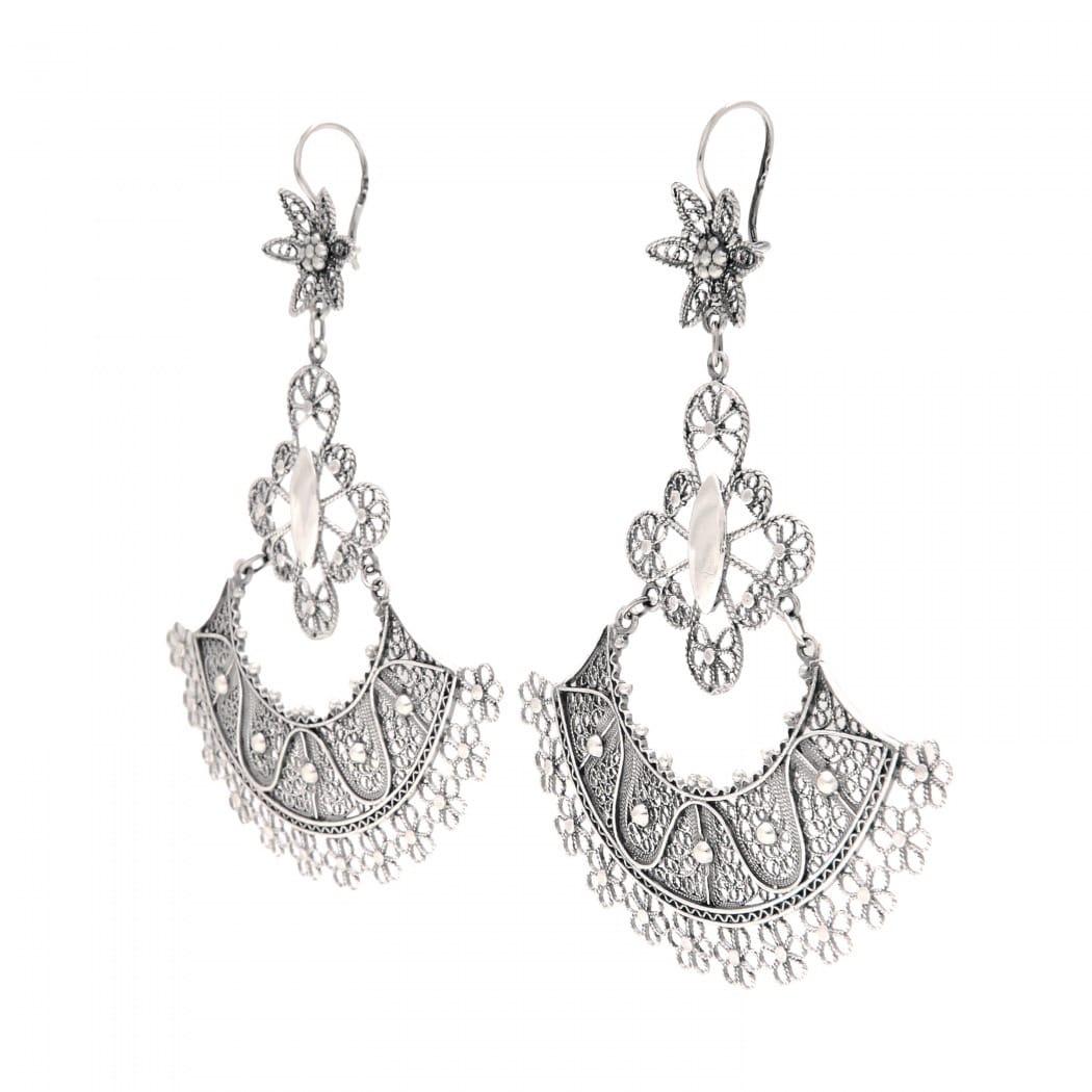 Earrings Skirt in Silver