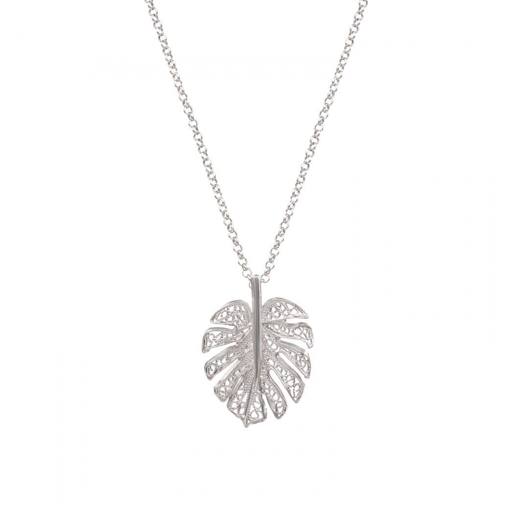 Necklace Monstera in Silver