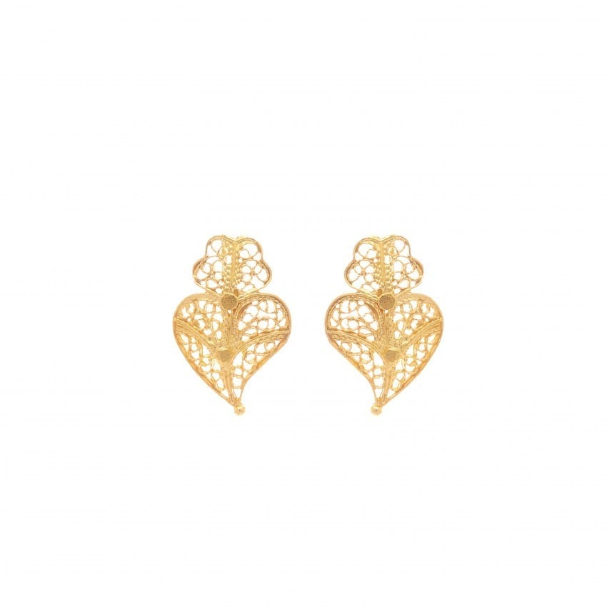 Earrings Heart Viana XS in 19,2Kt Gold