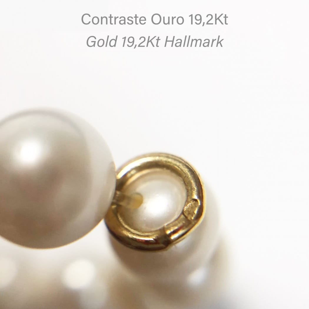 Bracelet Conta in 19,2Kt Gold and Pearls