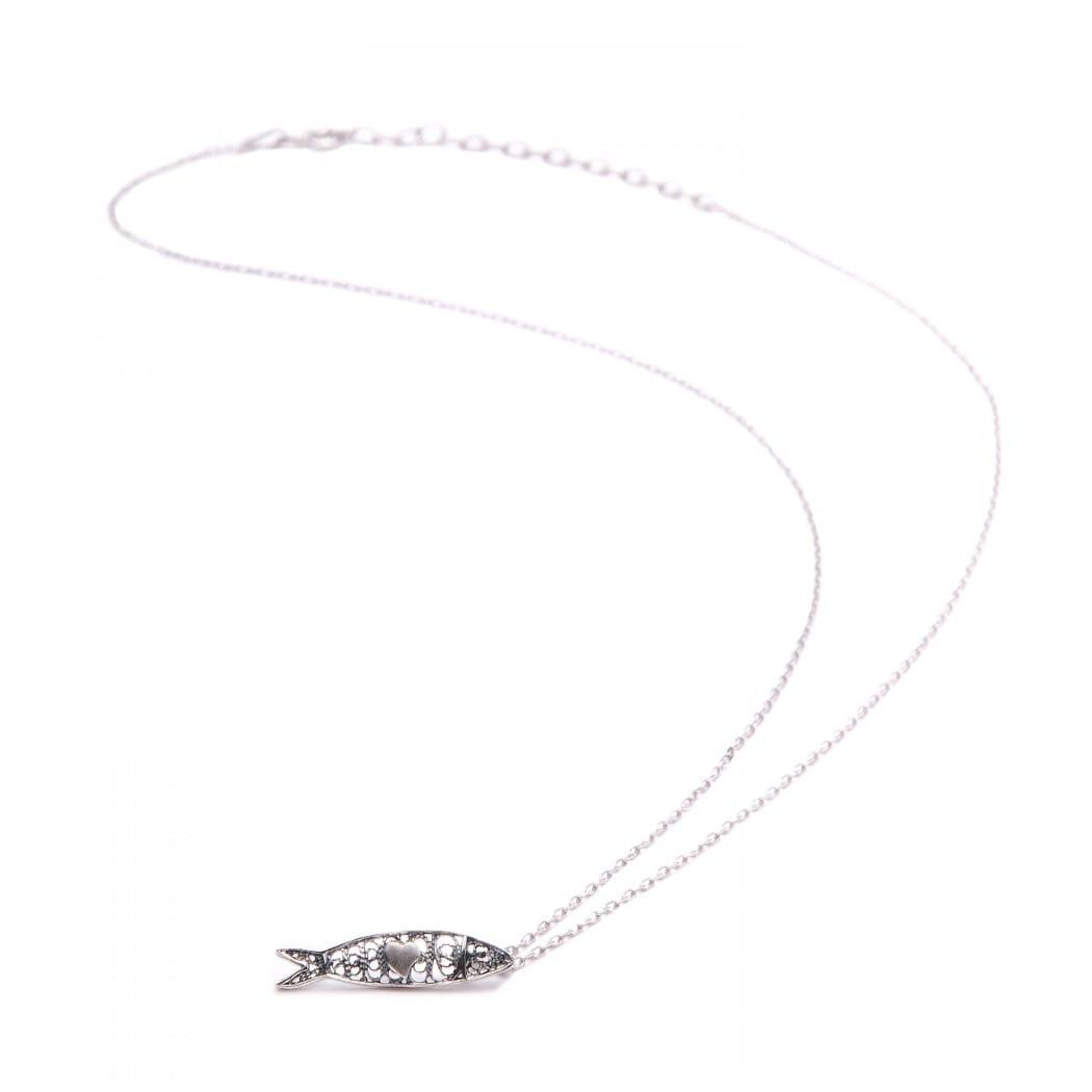 Necklace Sardine in Silver
