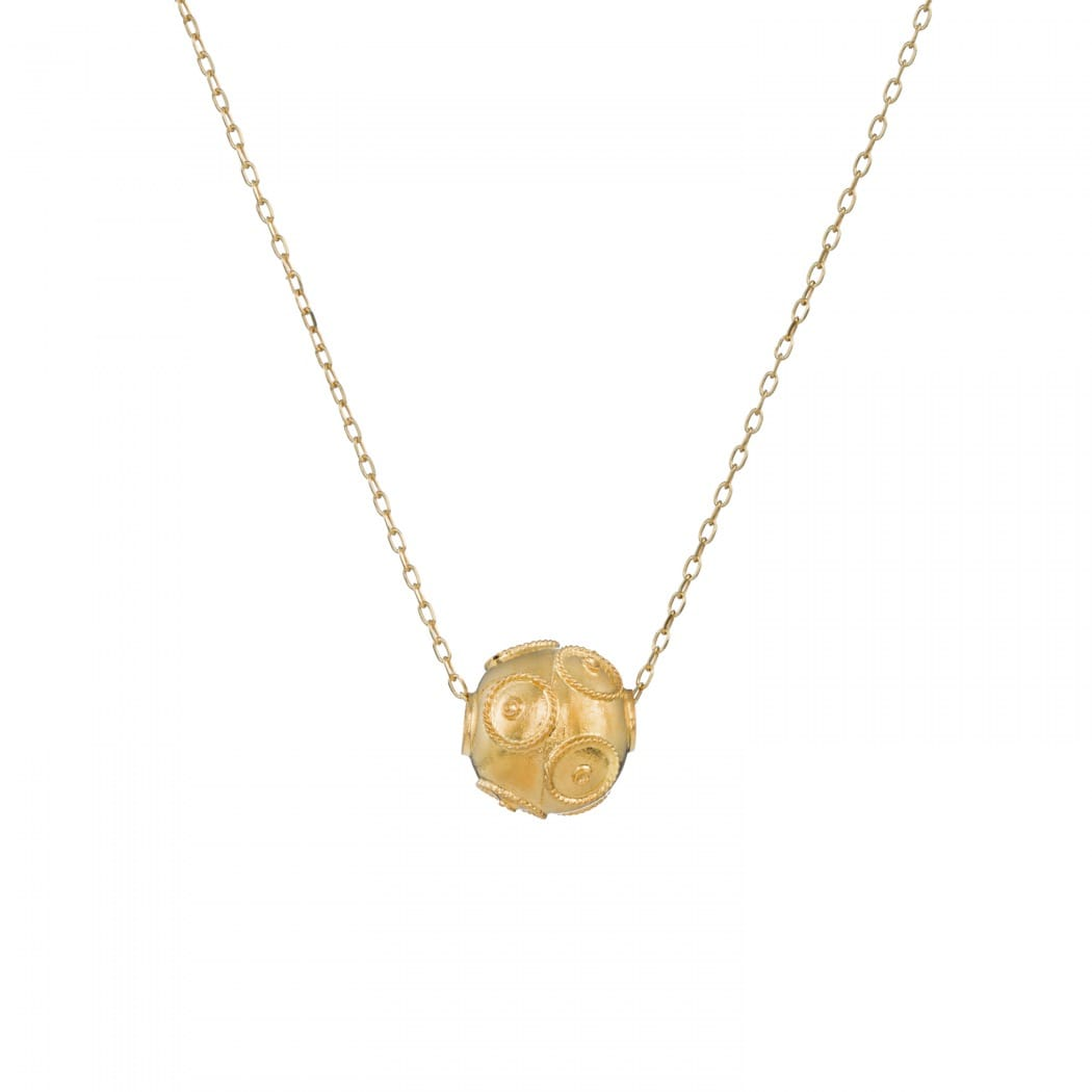 Necklace Viana's Conta in Gold Plated Silver