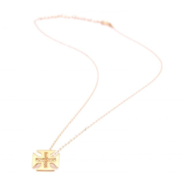 Necklace Cross of Christ in Gold Plated Silver