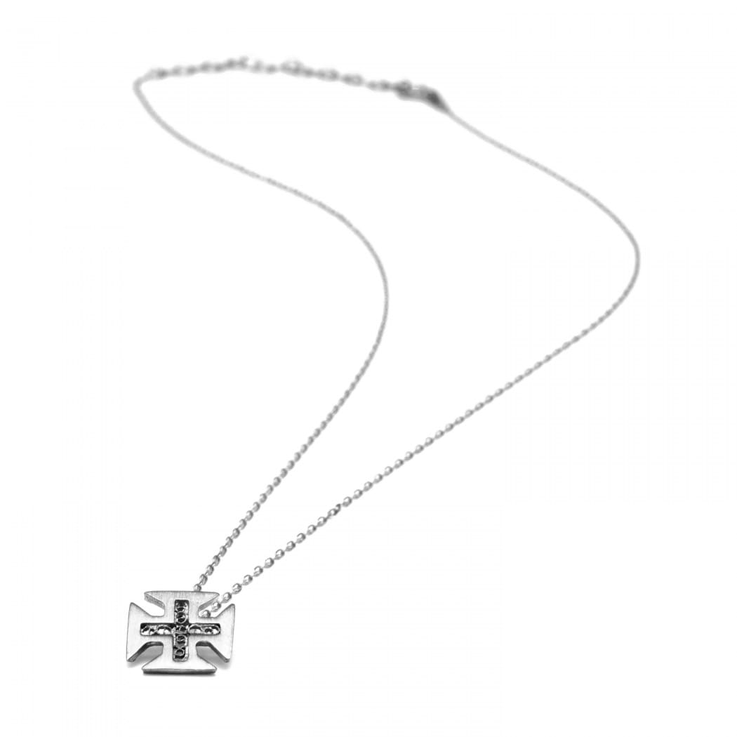 Necklace Cross of Christ in Silver