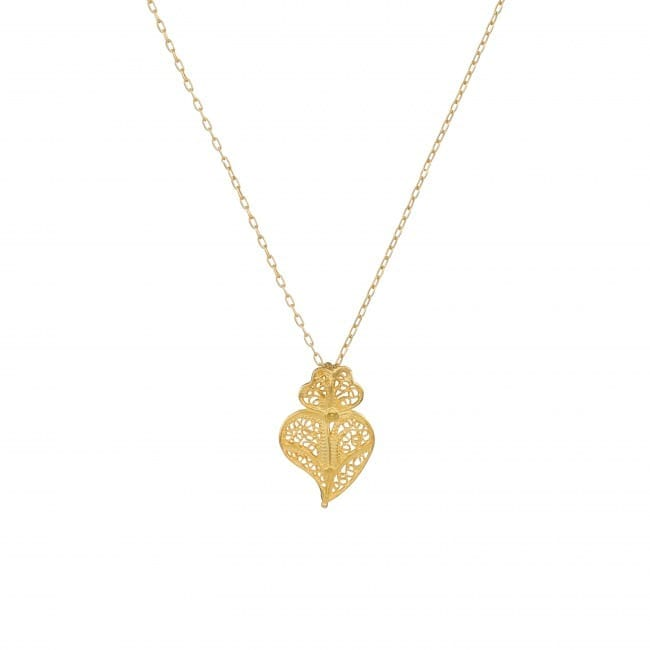 Necklace Heart of Viana in Gold Plated Silver