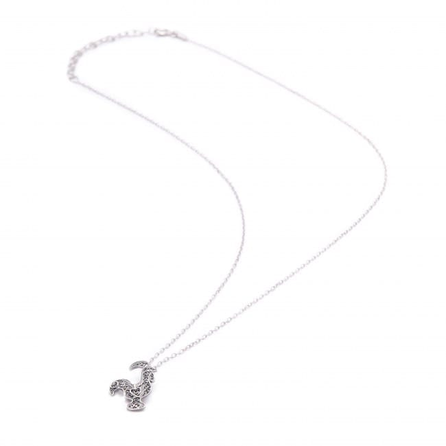 Necklace Rooster Barcelos in Silver