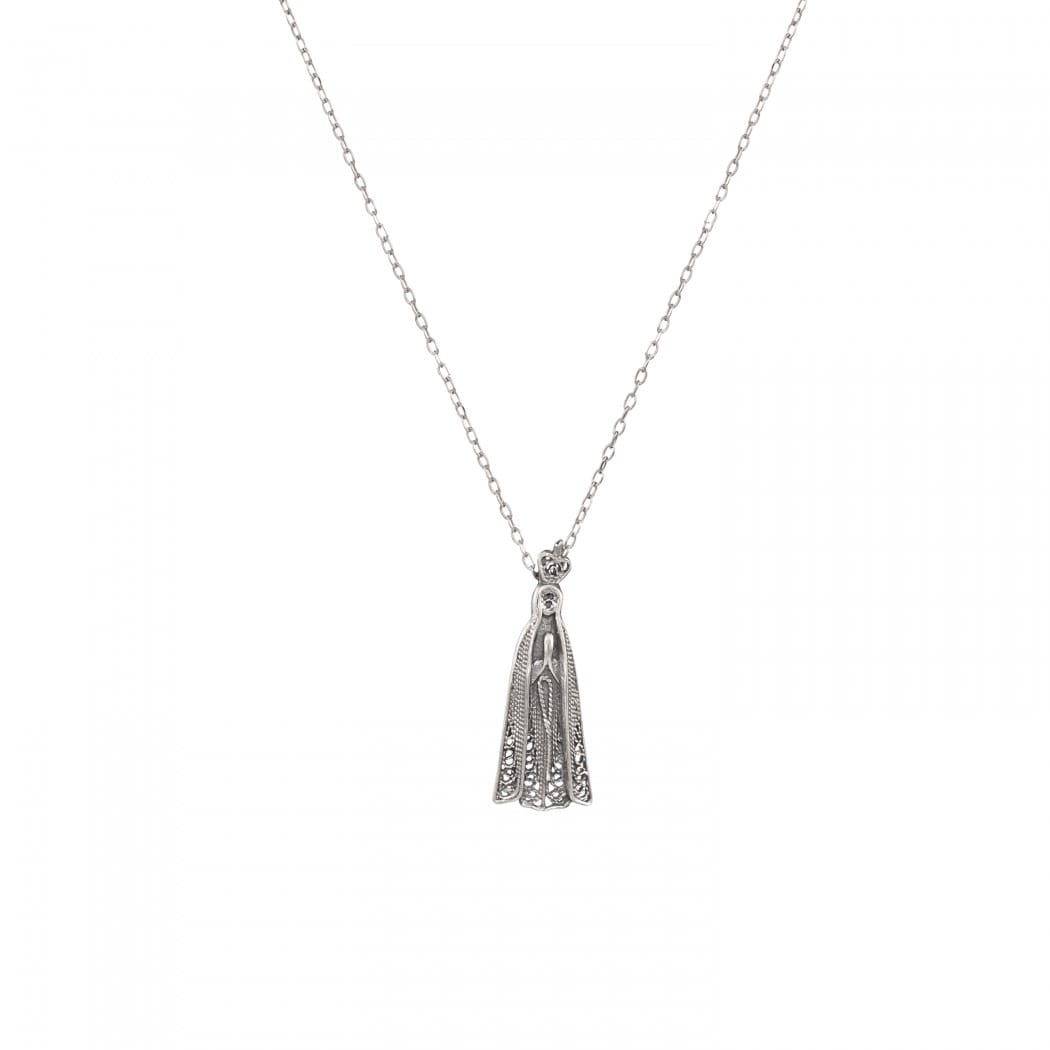 Necklace Our Lady of Fátima in Silver