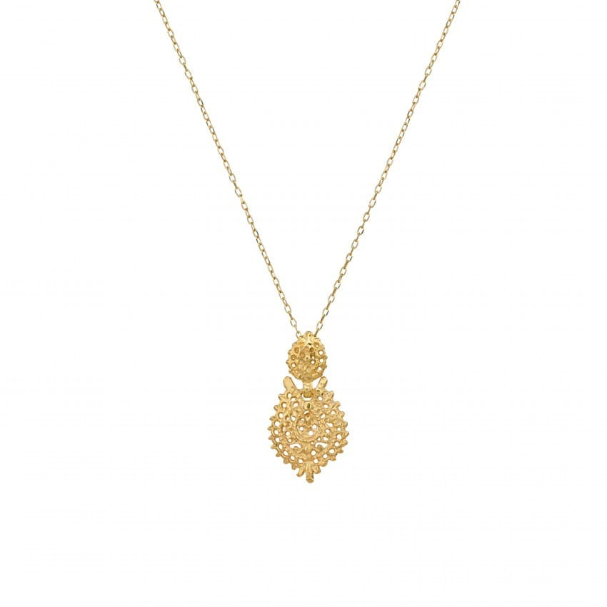 Necklace Queen Earring in Gold Plated Silver
