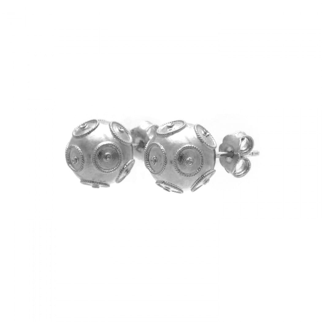 Earrings Viana's Conta in Silver