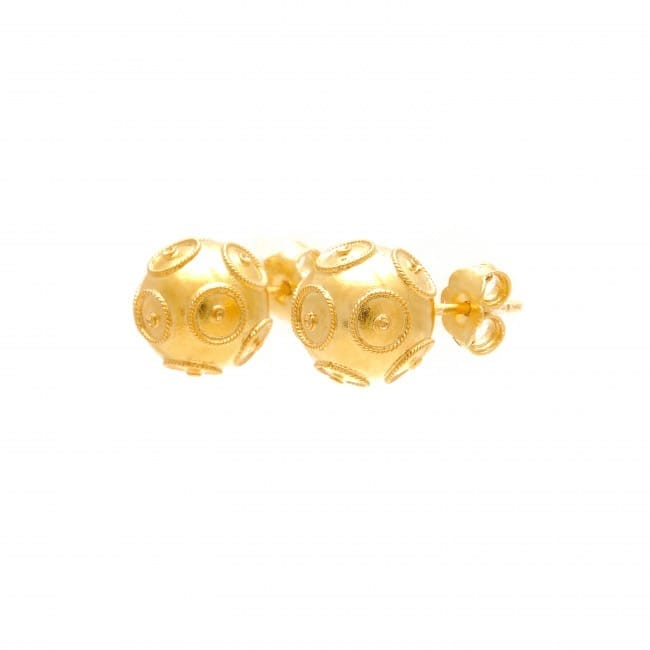 Earrings Viana's Conta in Gold Plated Silver