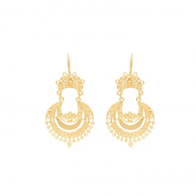 Earrings Arrecadas in Gold Plated Silver