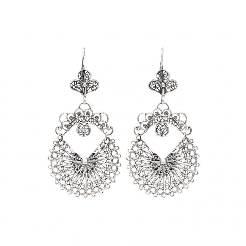 Earrings Arrecadas 5,0cm in Silver