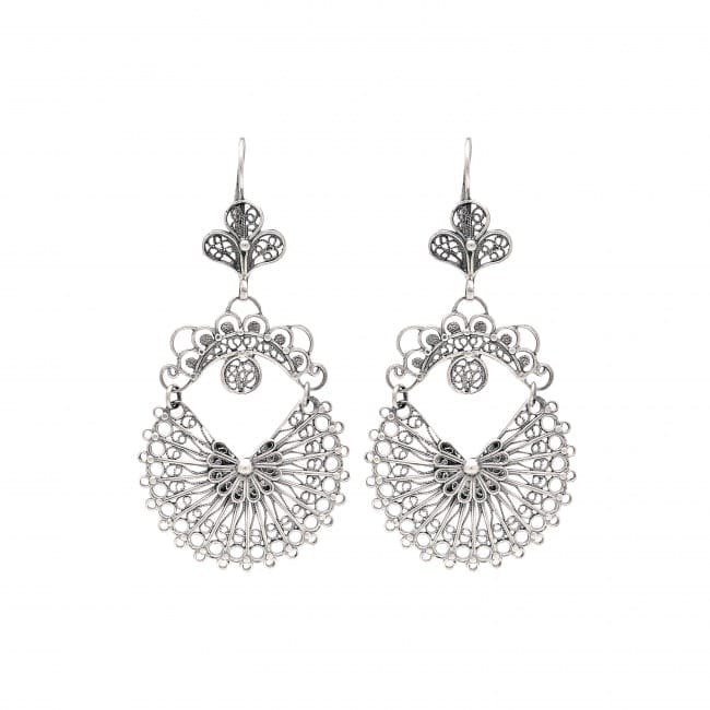 Earrings Arrecadas 5,0cm in Silver