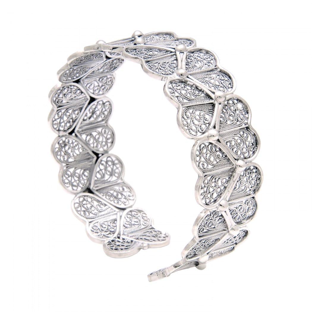 Bracelet Hearts in Silver