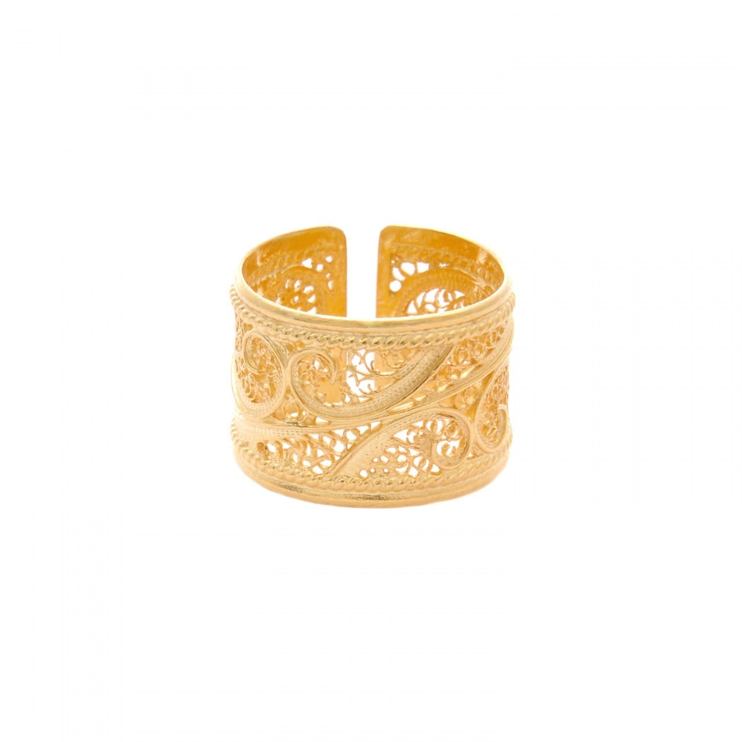 Ring Filigree in Gold Plated Silver