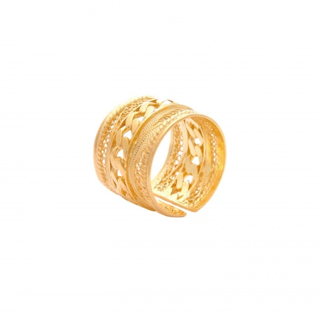 Ring Rope in Gold Plated Silver