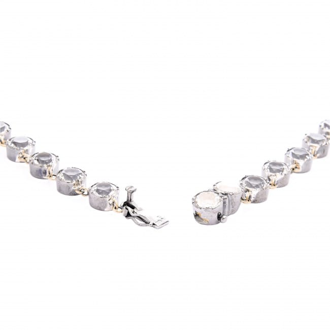 Necklace Riviera Rock Crystal in Silver and Gold