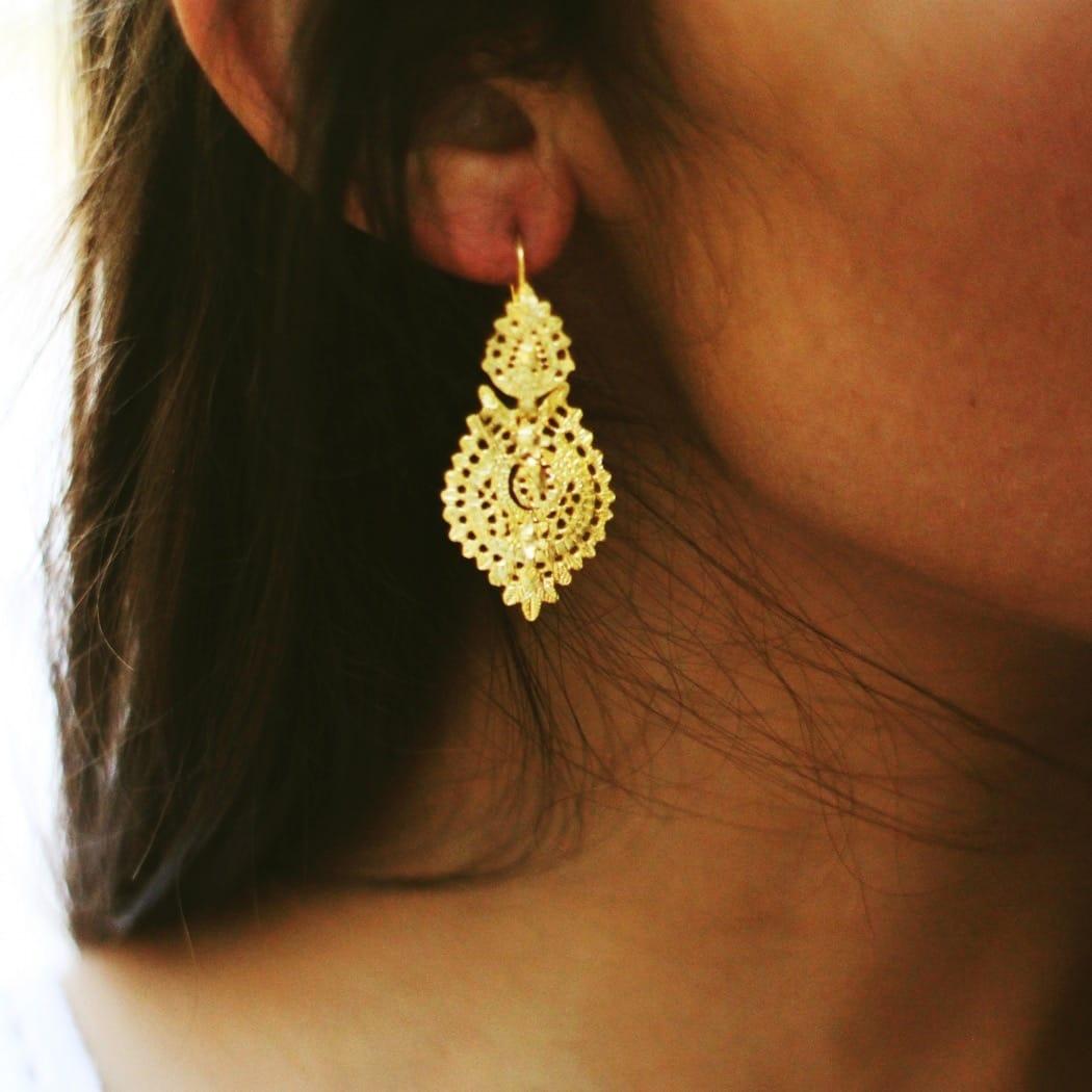 Queen Earrings 4,0cm in Silver