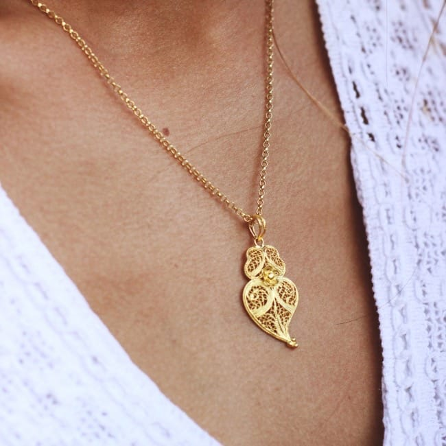 Necklace Heart of Viana 3,5cm in Silver