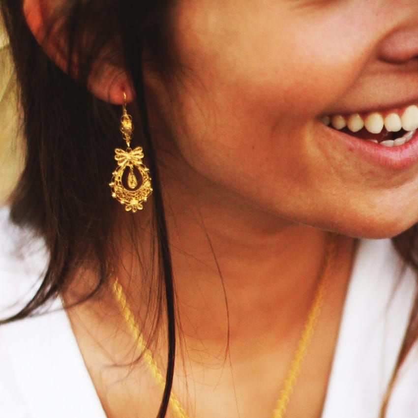 Princess Earrings in Gold Plated Silver