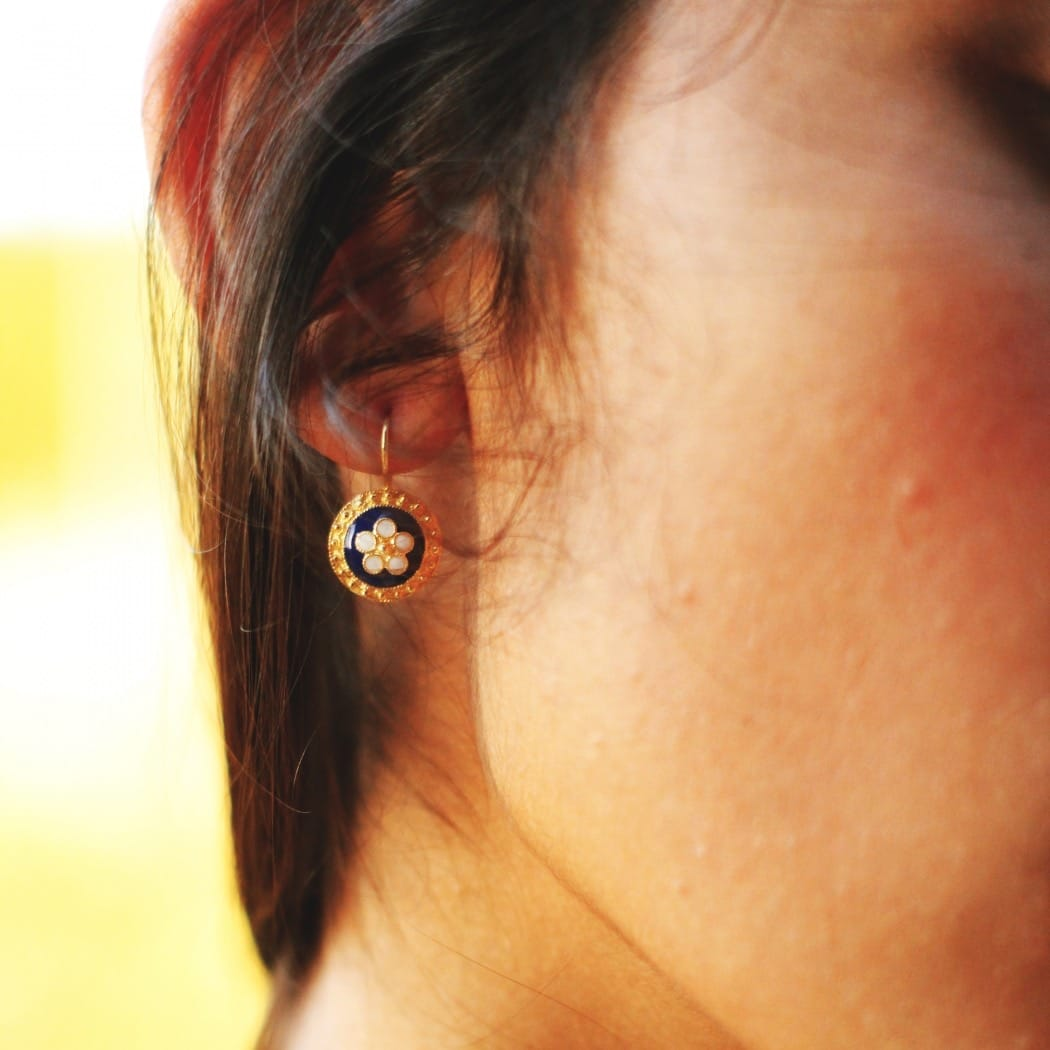 Earrings Caramujo in Silver