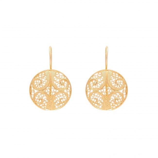 Brincos Círculos em Prata Dourada