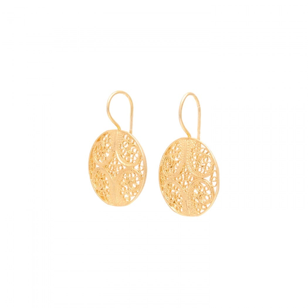 Earrings Circles in Gold Plated Silver