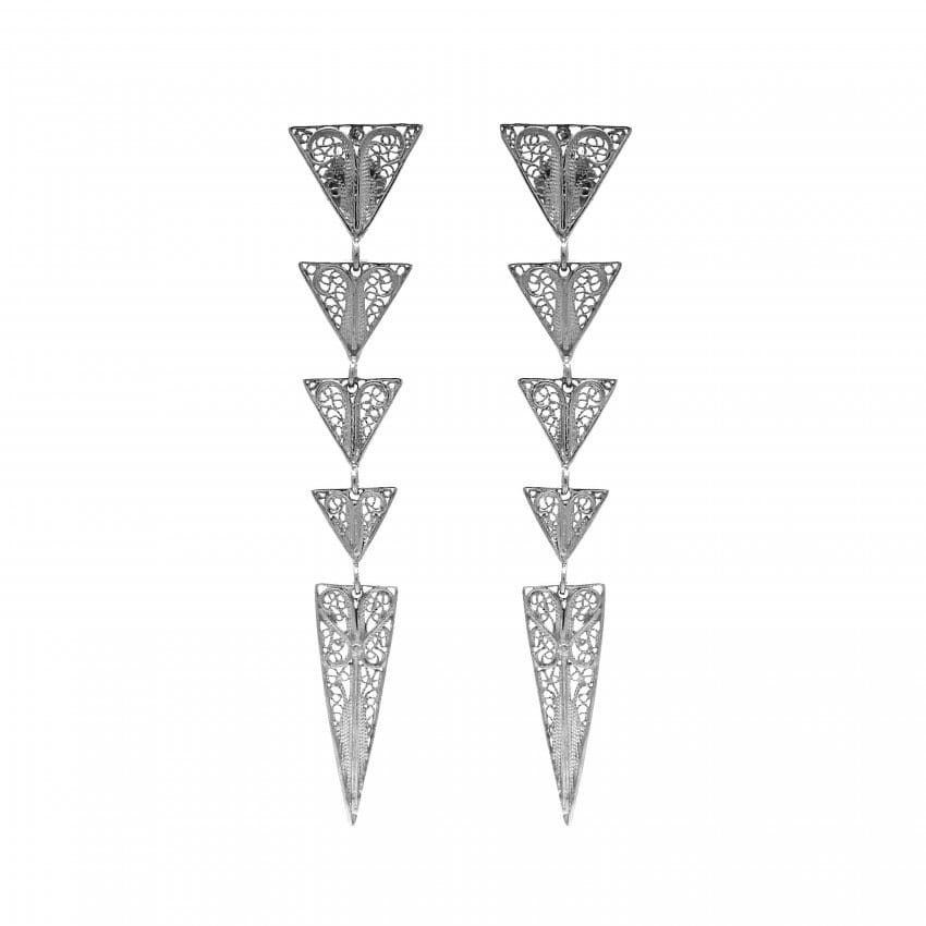 Earrings Triangles in Silver