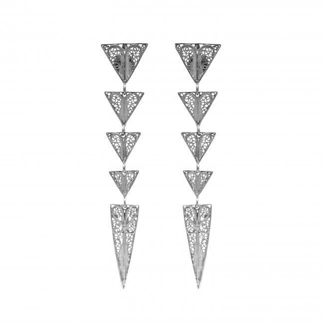 Brincos Triângulos em Prata