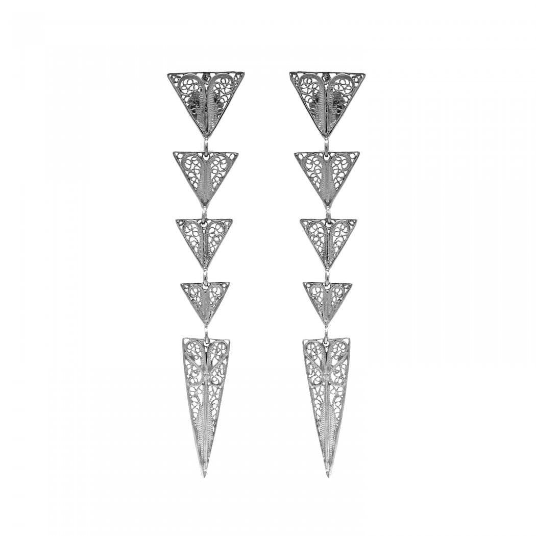 Earrings Triangles in Silver