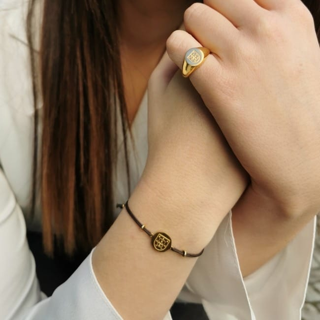 Bracelet Escudo in Gold Plated Silver