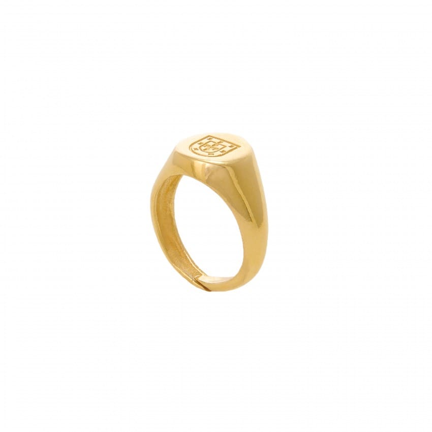Ring Escudo in Gold Plated Silver