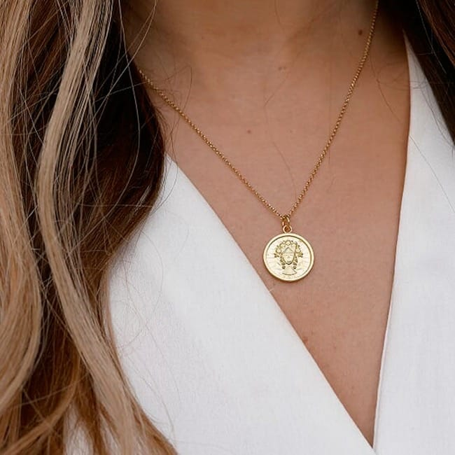Necklace Virgo in Gold Plated Silver