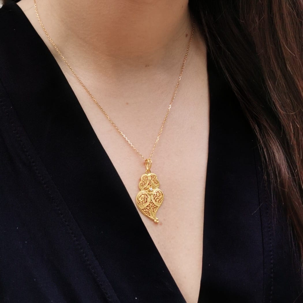 Necklace Heart of Viana in 19,2Kt Gold and Diamond