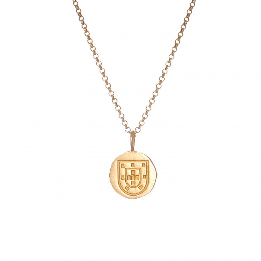 Necklace Escudo in Gold Plated Silver