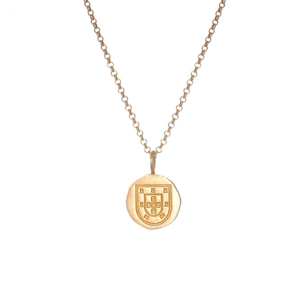 Necklace Escudo in Gold Plated Silver