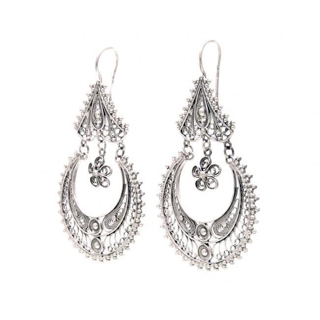 Earrings Arrecadas Ciclo in Silver