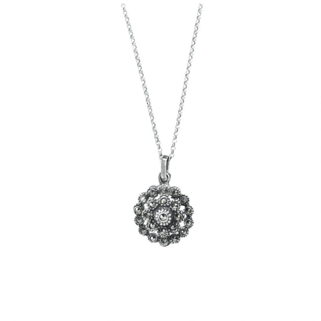 Necklace Pinecone Marcasites in Silver