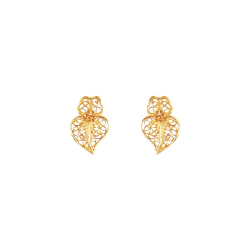 Earrings Heart Viana XXS in 9Kt Gold