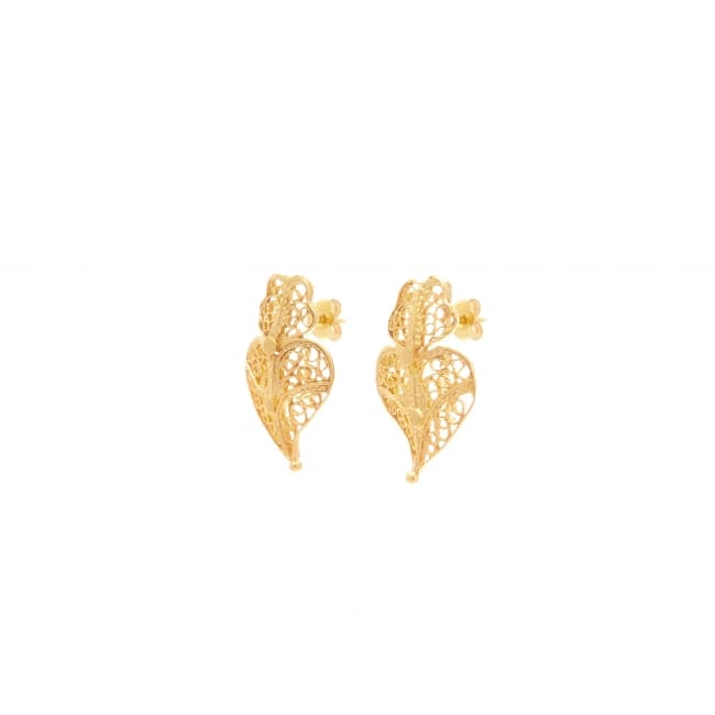 Earrings Heart Viana XS in 9Kt Gold