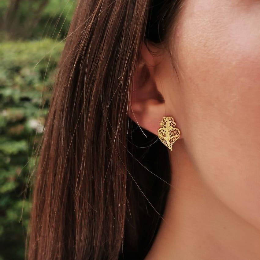 Earrings Heart Viana XS in 9Kt Gold