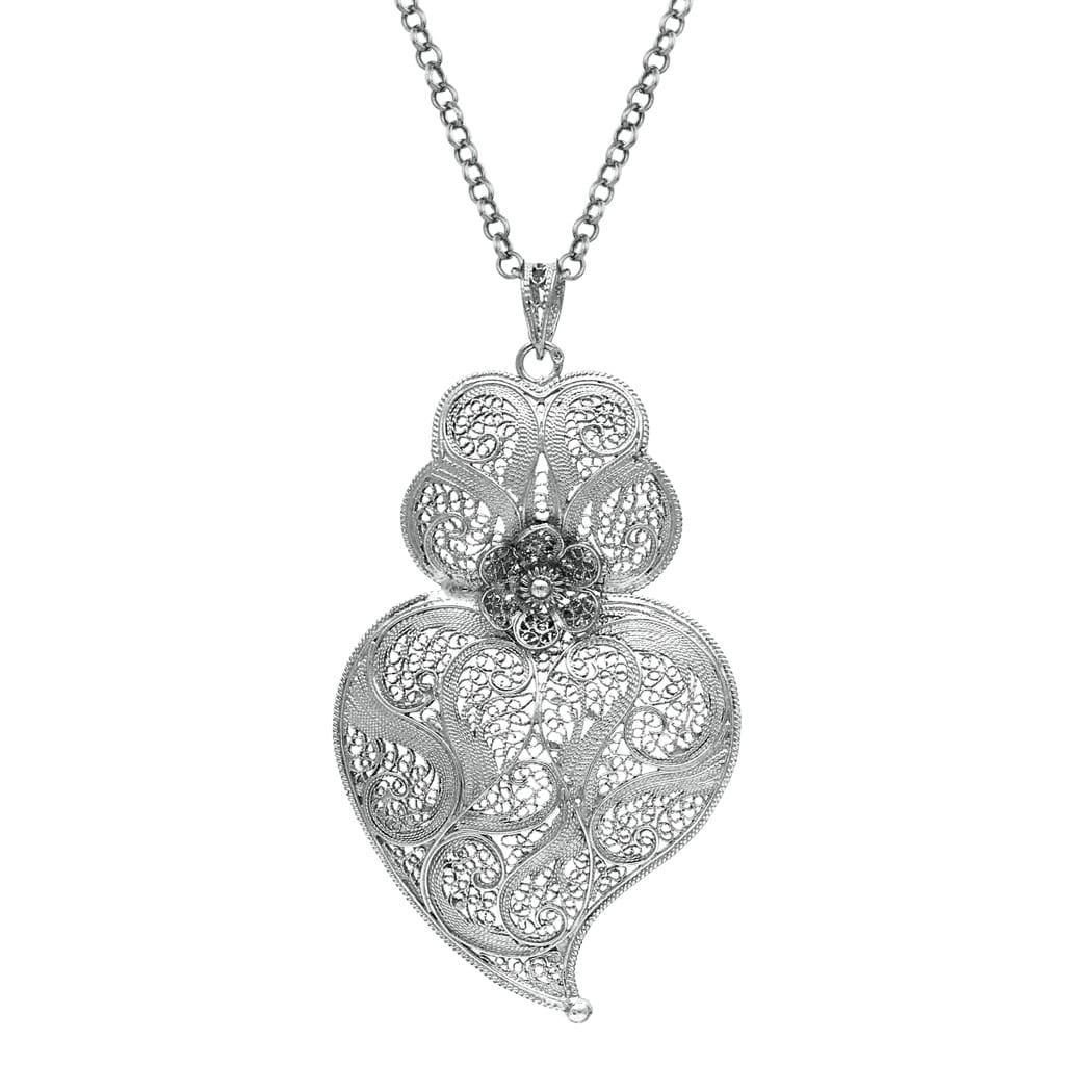 Necklace Heart of Viana 7,5 cm in Silver