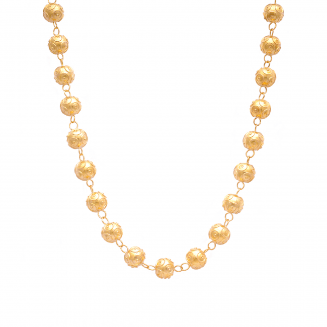 Necklace Viana's Contas in 9Kt Gold