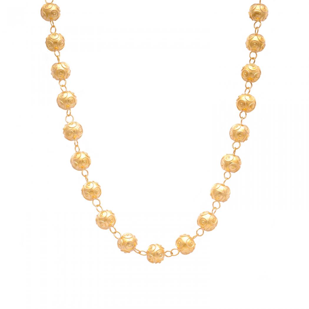 Necklace Viana's Contas in 9Kt Gold
