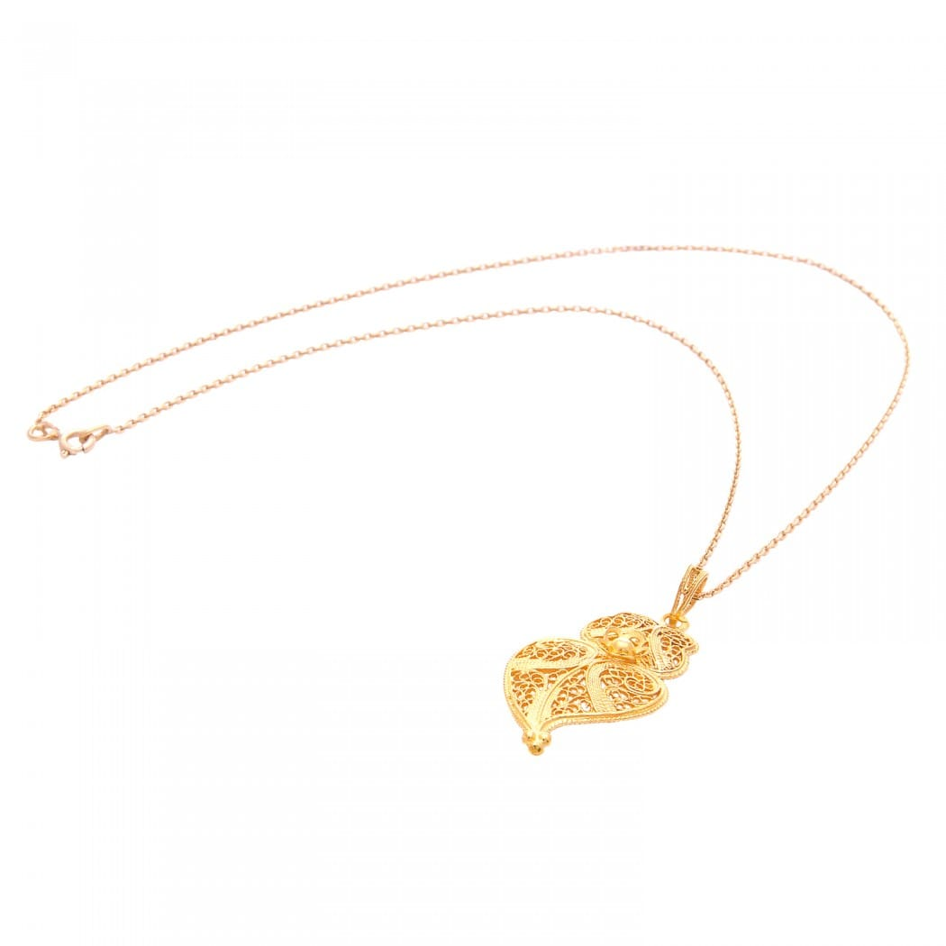 Colar Coração de Viana em ouro 9Kt